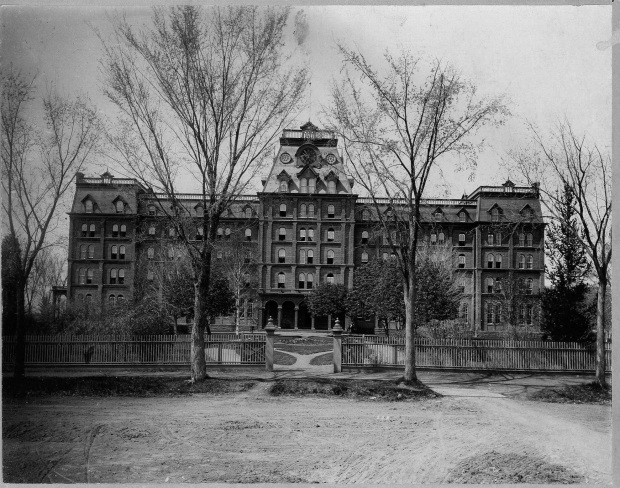 The original Centenary Collegiate Institute main building.